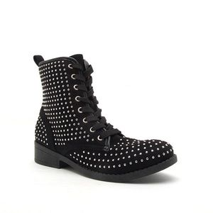 Qupid  Booties Flat Heel Lace